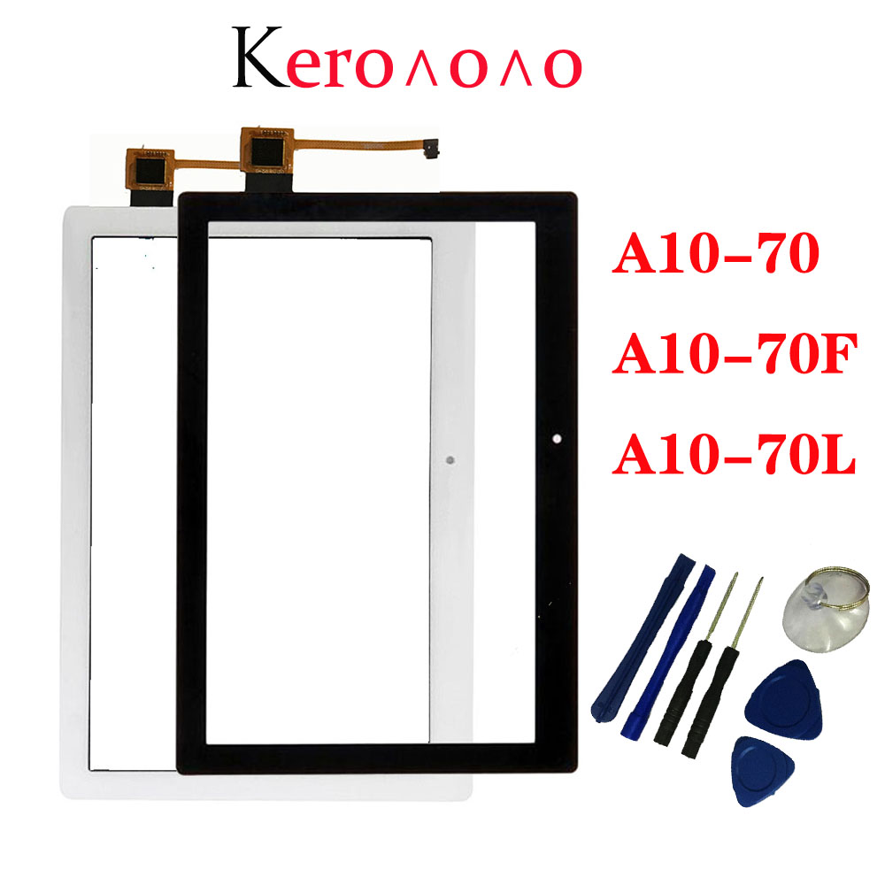 """10.1"""" For Lenovo Tab 2 A10-70  A10-70F  A10-70L Touch Screen Digitizer Panel Sensor Outer Glass Tablet PC Replacement Parts-0"""