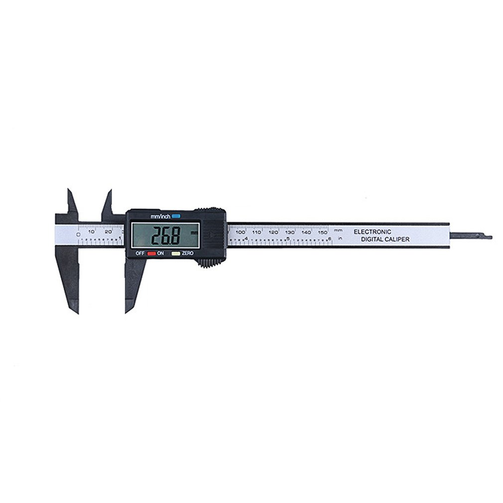 LCD Digital Caliper Gauge Micrometer Measuring Tool Carbon Fiber Composites 0-150mm Caliper Ruler With Inch To MM Conversion