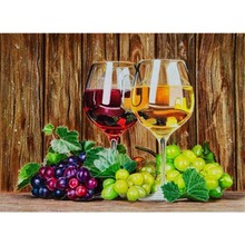 New 5d diy Diamond Painting Full Drill Still Life Circular Embroidery Fruit Dimond Home Decor Gift