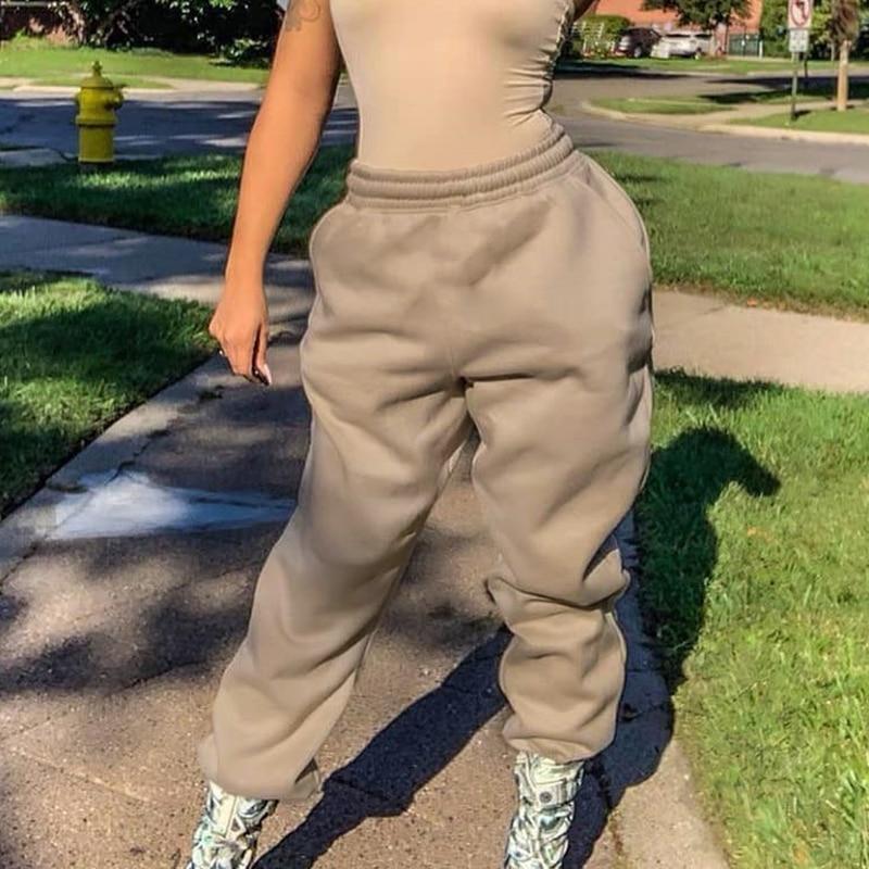 2020 Sweatpants Joggers Women Elastic High Waist SweatCapris Casual Trousers Ladies Korean