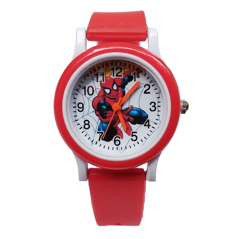 Dropshipping Spiderman Cartoon Baby Watch Kids Watches Children Rubber Quartz Watch Boys Girls Gift Hour Reloj Montre Relogio
