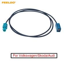 FEELDO 1Pc Car FAKRA Z Radio Signal Antenna AM/FM 1 Meter Wiring Adapter For Volkswagen/Skoda/Audi OEM Stereo Head Unit