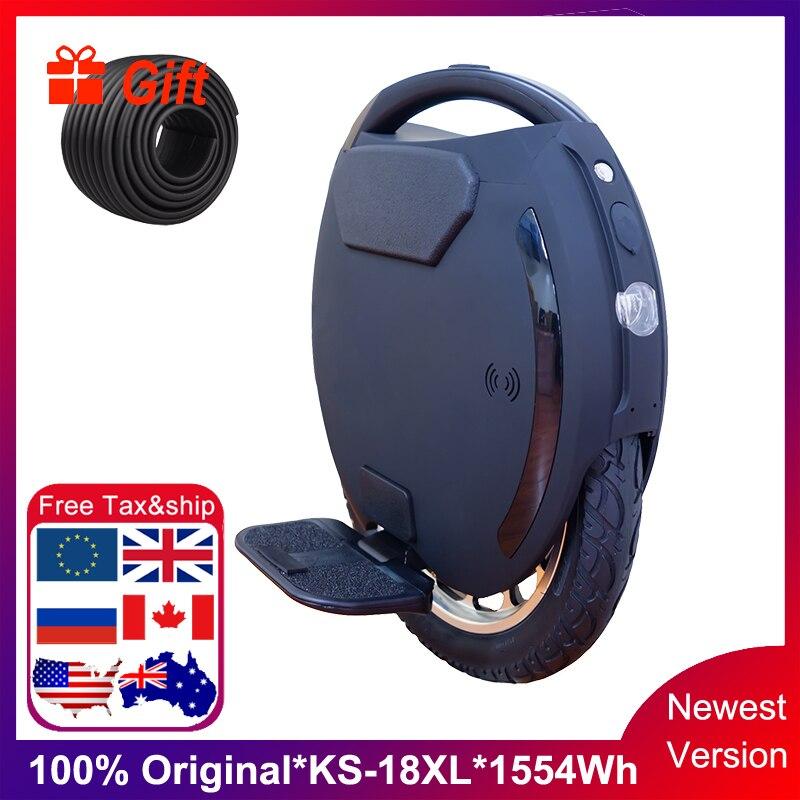 Newest KS-18XL Electric Unicycle Longest Mileage Single Wheel 2000W Motor 1554wh Battery Speed 50km/h Add XL Padel