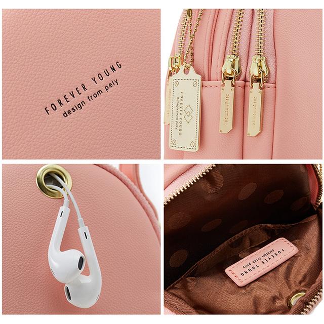Leather Mini Backpack Purse for Women Ladies Bookbag Multi-Function Luxury Shoulder Bag Messgner Bags Mochila Feminina