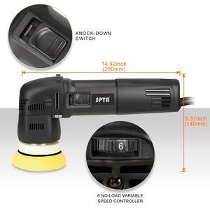 Image 3 - Spta 3 polegada mini polidor de carro 780w/10mm dupla ação polisher da polidor de carro polidor automático máquina com esponja polimento almofadas conjunto