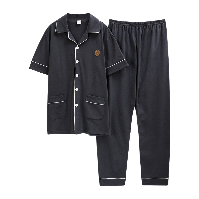 2020 New Fashion Style Turn Down Collar Chinese Pajamas Homesuit Homeclothes Fashion Style Short Sleeve Long Pants Sleepwear