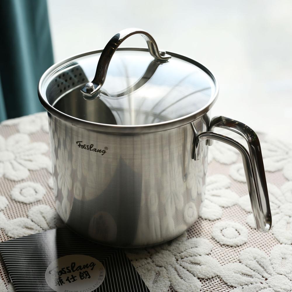 1,5 кварт 18/10 кастрюля из нержавеющей стали с Изливом, мини-кастрюля для молока с изливом-идеально подходит для кипячения молока, соуса, гравюр - Цвет: 1.5 Quart
