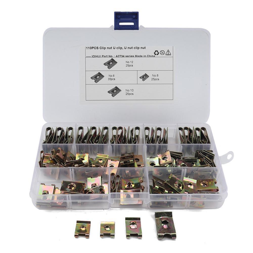 110 Assorted Piece U Nuts Kit Jdm Accessories Car Modification Spire Clips Zinc Speed Fasteners Lug Nuts For bmw e39 e36 e46