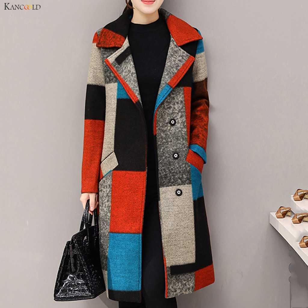 KANCOOLD jassen Womens Winter Oversize Revers Kasjmier Wol Blend Riem Geul Uitloper mode nieuwe jassen en jassen vrouwen 2019Oct9