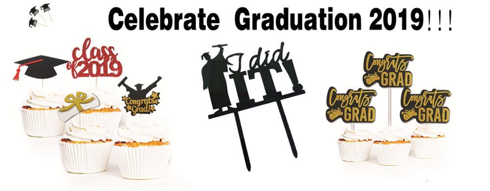 Acrylic Graduation 2019 Cake Topper I Did It Happy Graduation Party DecoratZ8