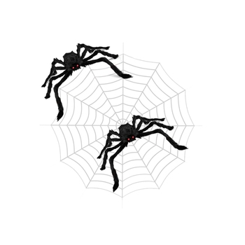 3PCS Halloween Spider Web Halloween Spider Decorations 142 inch Mega Spider Web 30 inch Giant Spider Huge Spider Web Indoor Outd фото