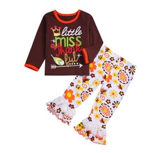 Get more info on the 2019 Autumn Toddler Baby Girls Thanksgiving Day Letter Tops Lace Patchwork Pants Outfits 9.3