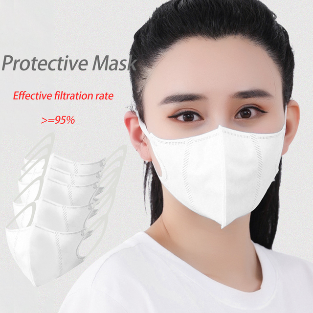 5pc PM2.5 Mouth Mask High Quality  Anti Dust Mask Windproof Mouth-muffle Bacteria Proof Flu Face Masks 4