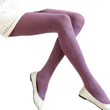 LJCUIYAO Women Tights Spring Autumn Winter Stockings Footed Thick Opaque Seamless Pantyhose Plus Velvet Warm Elastic