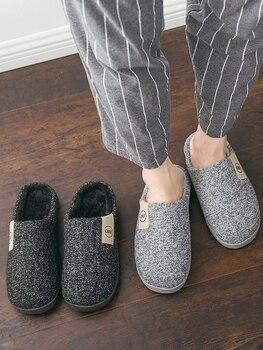 Classic Women Winter Warm Fur Slippers Men Women Boys Girls Slippers House Shoes Flat Heel Home Indoor Bedroom Zapatilla Mujer 2