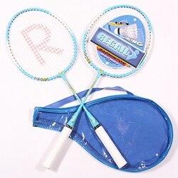 Profesjonalna paletka do badmintona sportowe rakiety do treningu dla dzieci sporty na świeżym powietrzu gra w badmintona zestaw dla dzieci Casual aluminium Raquette