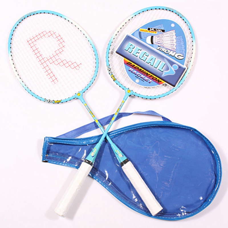 Professional Badminton Racket Child Sports Training Rackets Outdoor Sports Playing Badminton Set Kids Casual Aluminum Raquette