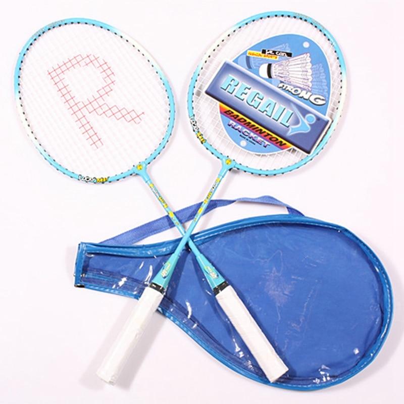 Professional Badminton Racket Child Sports Training Rackets Outdoor Sports Playing Badminton Set Kids Casual Aluminum Raquette
