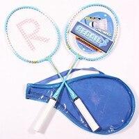 Raquete de badminton profissional criança esportes treinamento raquetes esportes ao ar livre jogando badminton conjunto crianças casual alumínio raquette