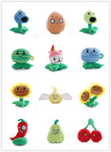 Plants Vs Zombies Figure Squash Garlic Angel Cattail Pea Shooter Plush Doll Kids Toys Great Gift 14-16CM(China)