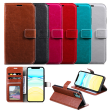 Phone Case for iPhone 11 Pro X XS MAX XR 6 6S 7 8 Plus 5 5S Book Wallet Cover Leather With Card Slots Money Pocket 3 card slots wallet crazy horse leather mobile case for iphone 7 plus 5 5 brown