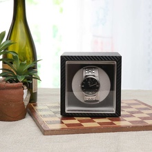 Немой двигатель шейкер с автоматическим заводом часов из углеродного волокна часы коробка для ювелирных изделий Организатор хранения данных часы аксессуары