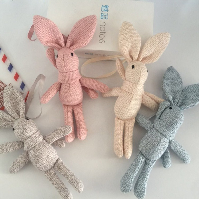 Rabbit Plush  Animal Stuffed Dress Rabbit Key chain TOY Bouquet Plush Dolls  Kid's Party Plush TOY