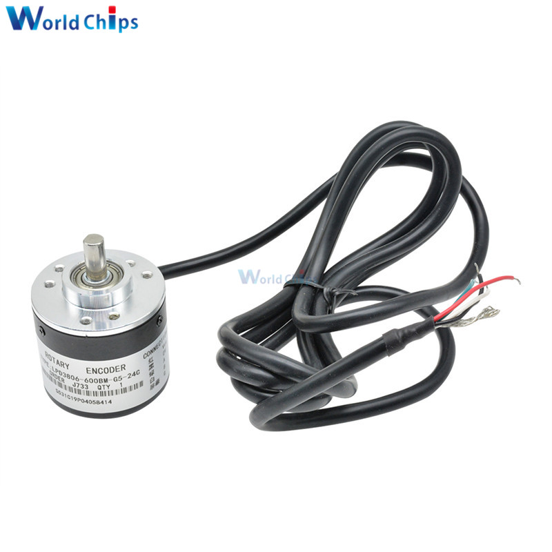600 P / R Pulses Incremental Optical Rotary Encoder AB Two-phase 5-24V 600 Pulses Incremental Optical Rotary Encoder 6mm Shaft