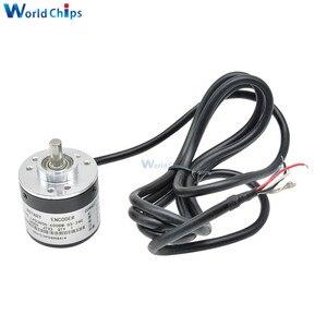 600 P / R импульсный инкрементный оптический поворотный кодер AB двухфазный 5-24 в 600 импульсов инкрементный оптический поворотный кодер 6 мм вал