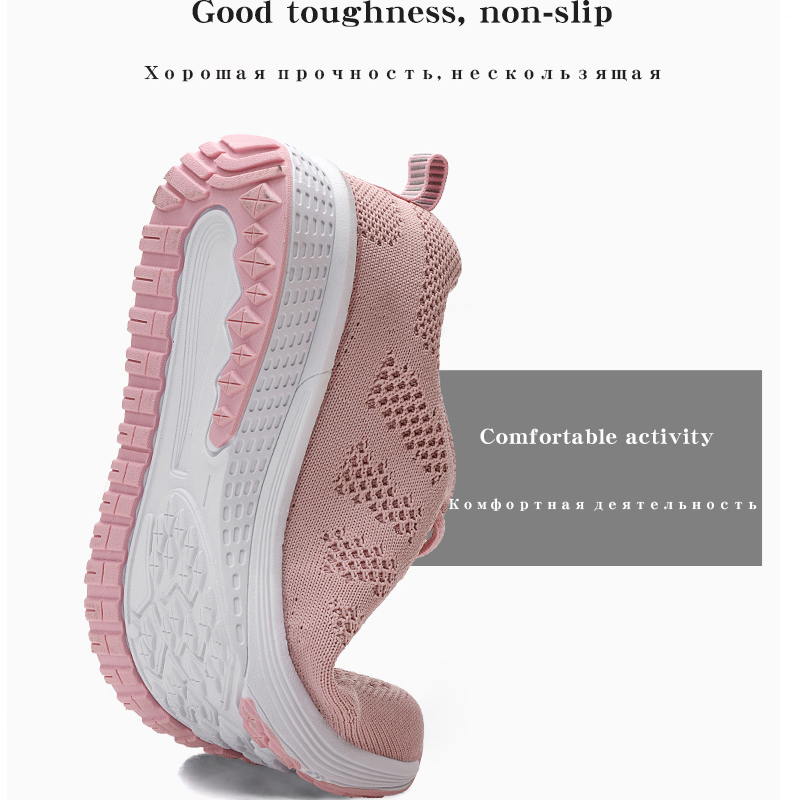 2020 Women Shoes Flats Fashion Casual Ladies Walking Woman Lace-Up Mesh Breathable Female Sneakers Zapatillas Mujer Feminino 5