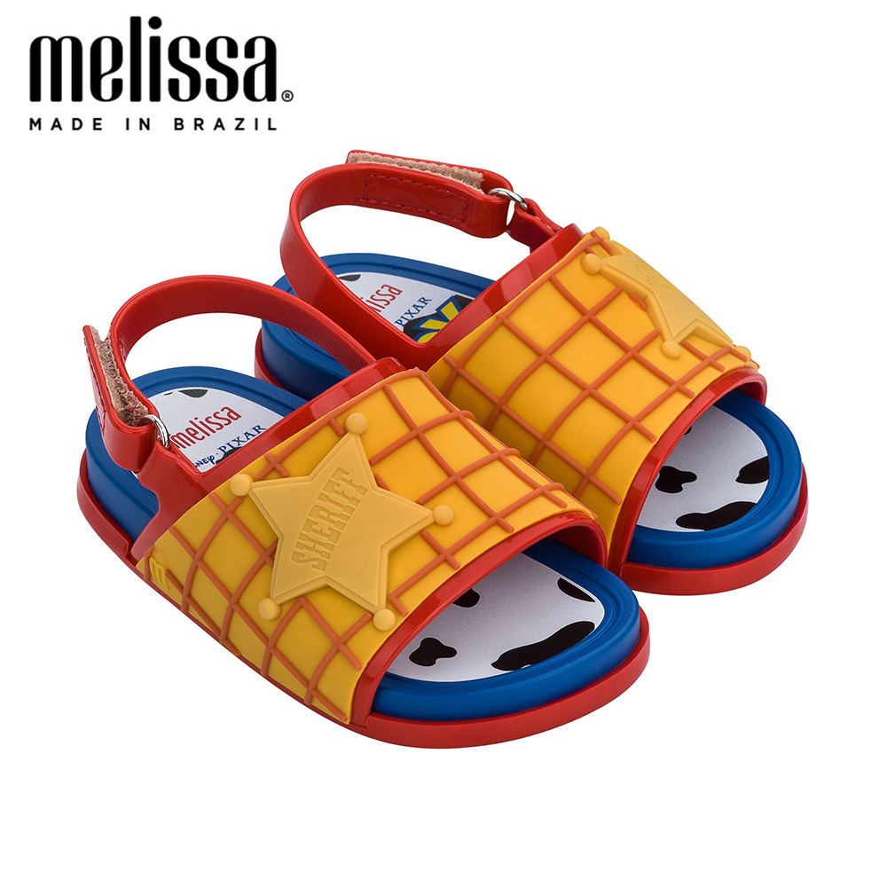 Mini Melissa Beach Slide + Toy Story Boy Girl Jelly Shoes Beach Sandals 2020 Baby Shoes Melissa Sandals Kids Non-slip Princess