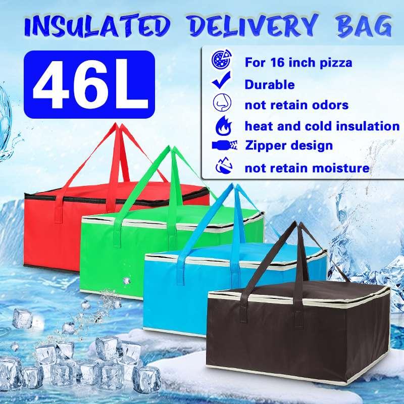 """Saco térmico isolado para alimentos, bolsa térmica de 15 """"16"""" para entrega de pizza, piquenique dobrável, à prova dágua saco de comida"""