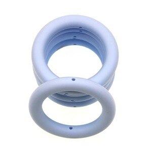 Kovict 5 шт в виде колец и джинсы с дырками для малышей Прорезыватель для зубов для новорожденных, игрушки-прорезыватели для бижутерии, материал для Цепочки и ожерелья Аксессуары игрушка