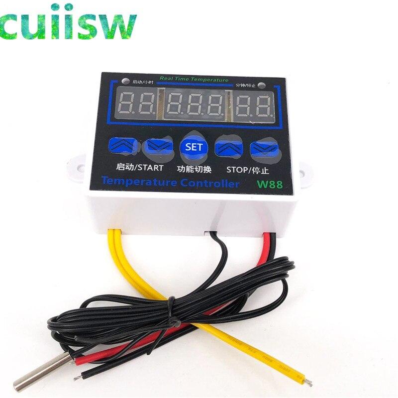 W88 12 В/220 В 10A цифровой светодиодный контроллер температуры термостат переключатель управления Senso W1411|Приборы для измерения температуры|   | АлиЭкспресс - Копчение