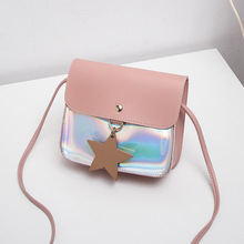 Bag woman summer new Korean version tide PU single shoulder bag fashion lady laser small oblique span womens