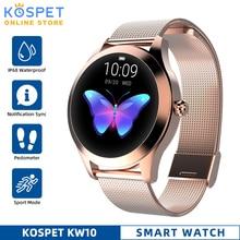 IP68 Chống Thấm Nước Đồng Hồ Thông Minh Smart Watch Nữ Ngủ Giám Sát Nhịp Tim Thời Trang Lonvely Đồng Hồ Thông Minh Smartwatch KW10 Vòng Tay Dành Cho Android IOS