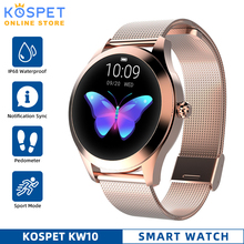 IP68 Waterproof Smart Watch Women Sleep Monitoring Heart Rate Monitor Fashion Lonvely Smartwatch KW10 Bracelet For Android IOS