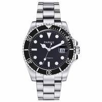 Parnis 40mm sapphire black ceramic Bezel Men Automatic Watch Diver Steel Miyota 8215 Movement Top luxury marque Mens Watches