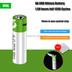 High capacity 1.5V 2600mwh AA Rechargeable li-ion Battery polymer with USB rechargeable + Battery storage Box