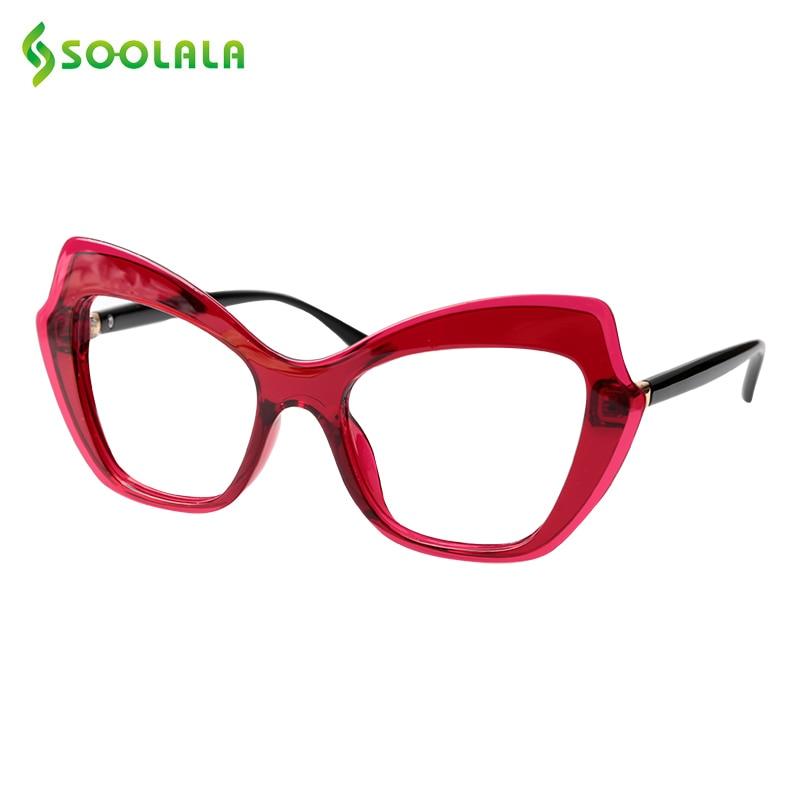 SOOLALA Butterfly Frame Cat Eye Reading Glasses Women Retro Vintage Hyperopia Presbyopia Reading Eyeglasses With Case 0.5 To 4.0