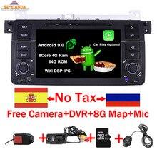 2019 Android 9.0 Car DVD Player for BMW E46 M3 radio stereo audio Wifi 3G Bluetooth Radio RDS USB SD Steering wheel Free camera цены онлайн