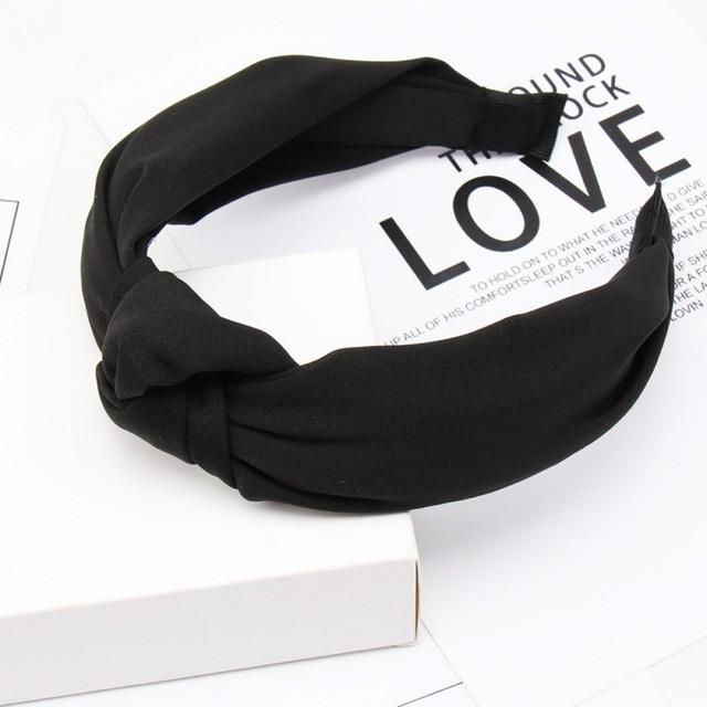 Купить однотонные повязки на голову с узлом для женщин простая эластичная картинки цена