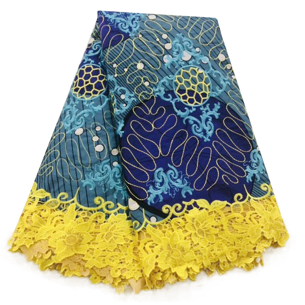 2019 New Design African Nigerian Ankara Lace Prints Wax Pagnes Africain Dutch Holland Wax Super Cotton Fabric 6yards Top Quality