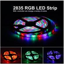 Mais brilhante 3528 dc12v 60leds/m smd rgb led tira fita de luz flexível 2/5m ip20 fita de luz de tira decoração para casa lâmpada carro dec