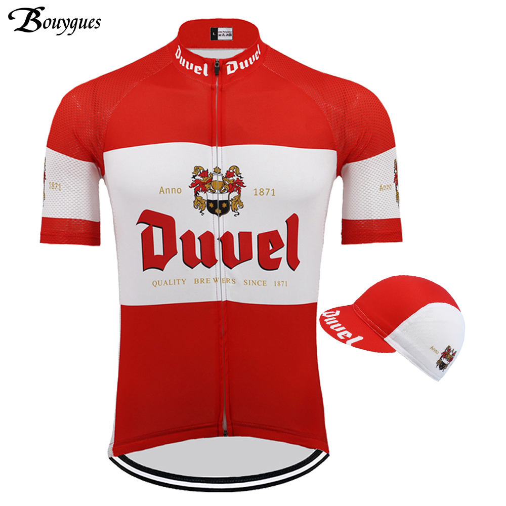 Red Duvel Cycling Jerseys Cycling  Short Sleeve Jersey