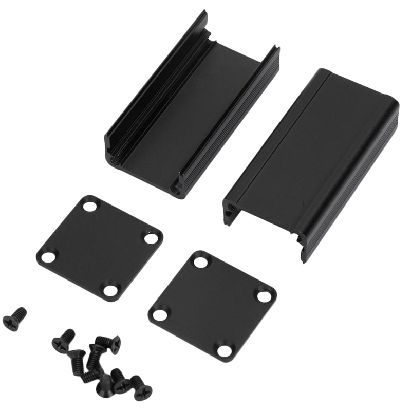 Black 25X25X50Mm Aluminum Enclosure Project Box PCB Instrument Cooling Shell For Electronic Products Mobile Power Supply