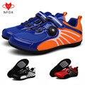 Горный велосипед mtb  мужская и женская обувь для горного велосипеда  синтетическая резина  дышащая  водонепроницаемая  с замком  обувь для ве...