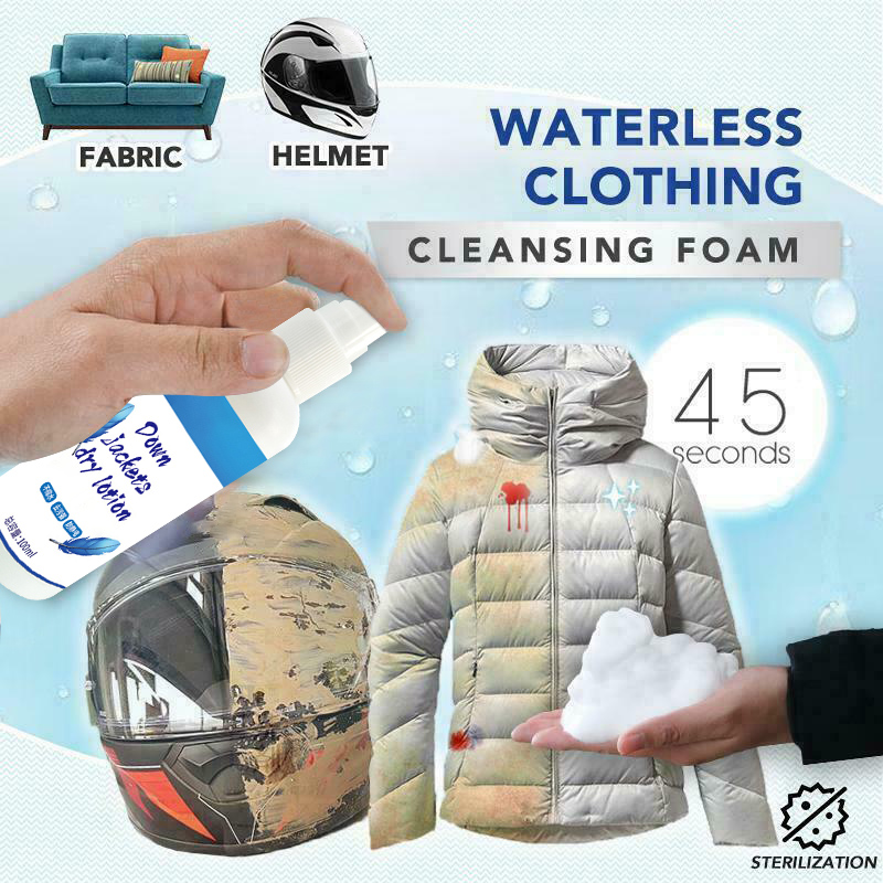 Waterless Clothing Cleansing Foam Clothing Decontamination Cleaner Remove Grease 100ML Car WashYAN88