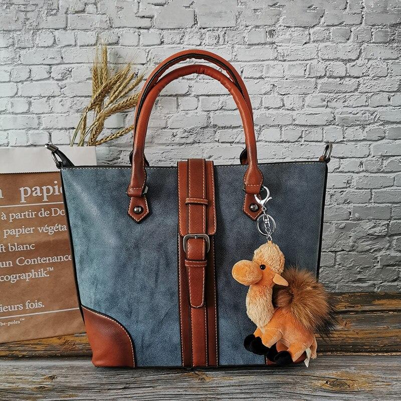 Vintage Ladies Shoulder Messenger Bag Large Capacity Genuine Leather Women Handbags Luxury Female Business Trip Casual Tote 2020