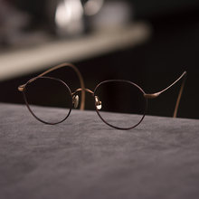 Винтажные мужские титановые очки оправа Круглые Женские Мужские